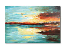 Framed Hand Painted Wall Decor Canvas Art Modern Abstract Artwork Oil Painting