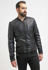 Leather Jacket Mens Brown Soft Lambskin Motorcycle Jackets Bomber Jacket SD687