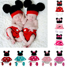 Baby Girls Minnie Mouse Crochet Knit Hat Costume Outfit Photo Photography Props