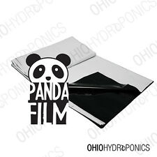 PANDA FILM 10x50' BLACK and WHITE POLY FILM Reflective 5.5mil replaces mylar