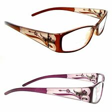 Bifocal Reading Glasses Women's FLORAL PATTERN BIFOCAL 125,175,200 Great Value