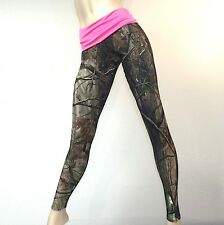 Camo Camouflage Hunting Pants PINK Fold Over/Low Rise Legging MADE IN USA