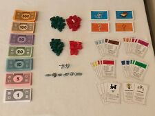 Monopoly Board Game REPLACEMENT Parts Pieces Money Houses Hotels Tokens Cards