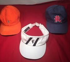 Lot of 3 Polo Ralph Lauren Baseball Caps & Visor  - One Size Only