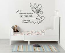 Tinkerbell There Is Freedom WALL STICKER Decal Decor Art Quote Peter Pan SQ158