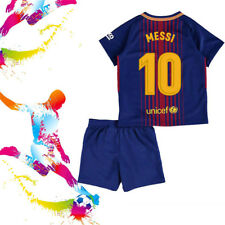 MESSI Youth Football Soccer Kids Jersey Short Sleeve Sports Suit for 3-13Y Boy
