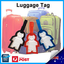 1x Happy Luggage Name Tag Travel Women Mens Boys Girls School Bag Backpack Label