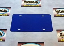 Royal Blue Plastic License Plate Blank .050-Create Your Own Designs!!