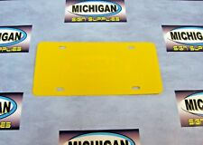 Yellow Plastic License Plate Blank .050-Create Your Own Designs!!