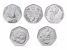 Beatrix Potter 50p UNCIRCULATED Jemima Puddle Tiggy Winkle Squirrel Peter Rabbit