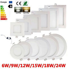 10X 6W-24W Dimmable Epistar Recessed LED Panel Light Ceiling Down Lights Lamp MX