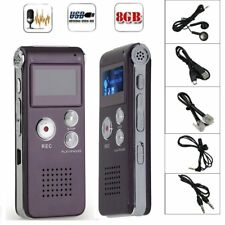 8GB Digital MP3 Player Audio Voice Recorder Rechargeable Dictaphone Telephone OK