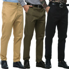 New Mens Chino Trouser Slim Fit Jeans Cotton Casual Pants Straight Leg Trousers