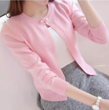 New Solid Color Fashion Women Sweater Female Cardigan Thin Outerwear