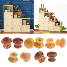 10-Pack Round Plastic Cabinet Knobs Pulls Cupboard Drawer Pull Knob Handle