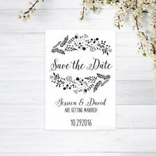PERSONALISED SAVE THE DATE CARDS INVITATIONS MAGNETS WEDDING CARD RECYCLED WHITE