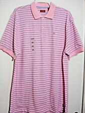 IZOD POLO SHIRT SHORT SLEEVE Color SEA PINK SIZE:XLARGE 100%COTTON MENS #380