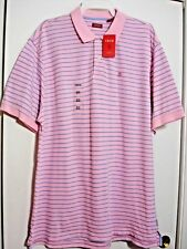 IZOD POLO SHIRT SHORT SLEEVE Color SEA PINK SIZE:2XLARGE 100%COTTON MENS #381