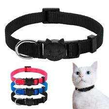 Plain Kitten Cat Breakaway Collar Safety Quick Release for Pet Puppy Small Dogs