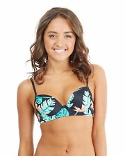 NEW ROXY™  Womens Beauty And Beyond Underwire Demi Bra Bikini Top Womens Swimwea