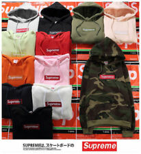 2018 HOT Womens Mens *SUPREME* Hip Hop Hoodie Embroidered Cotton Sweater Hoodies