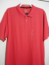 CLUB ROOM POLO SHIRT SHORT SLEEVE Ocean Coral Size:X-Large100%COTTON MENS #410