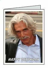 SAM ELLIOT Personalised A6 or A5 Cards Birthday Greeting Thank You Welcome D1