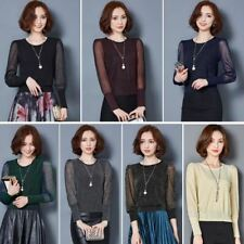 Women Fashion Casual Long Sleeved Spring Patchwork Blouses PN1149