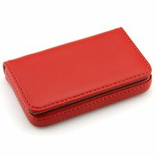 Leather Wallet Business Name Case Card Holder 25 Cards Magnetic Shut