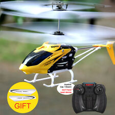 Mini RC Helicopter 2 Channel Gyro Crash Resistant Drone Kids Toy Remote Control