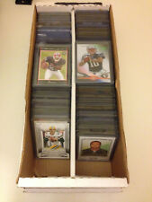 Huge Collection of Football Cards in Top Loaders w/ Stars Rookies Inserts