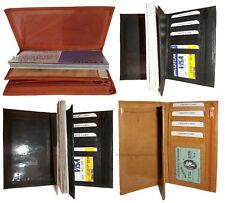 New women/men's Leather Checkbook cover, Checkbook credit card change wallet NWT