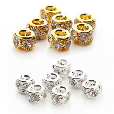 20Pcs Wholesale Crystal Rhinestone Rondelle Spacer Beads Handmade DIY Crafts