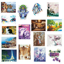 Frameless Picture Painting By Numbers Handicrafts Canvas Oil Paint DIY Decor