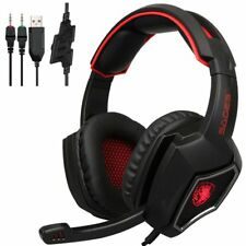 SADES L9 USB Gaming Headset Stereo Computer Headphones With Mic 3.5mm Jack BS