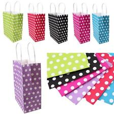 Kraft Paper Gift Bag Polka Dot Bags With Handle Wedding Birthday Party Paper Bag