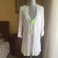 COOL CHANGE  White Embroidered Dress Coverup Tunic Sz L Sz M Sz S NWT $ 230