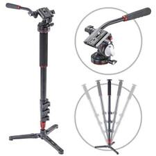 NEW 3POD ORBIT 4 SECTION ALUMINUM PHOTO/VIDEO MONOPOD WITH FLUID BASE AND LIG...
