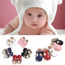 Solid Soft PU Leather Baby Shoes Sweet Casual Princess Girls Baby Kids Shoes BS