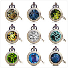 "New Classic""Doctor Who""Movie Science Theme Pendant Necklace Quartz Pocket Watch"