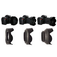 3Stage 3in1 Collapsible Rubber Foldable Petal Lens Hood for Canon Nikon 58 52 77