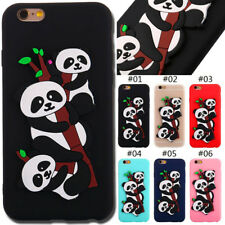 For Apple iPhone X 6S 7 8 Plus TPU Rubber Soft Skin Case Silicone 3D Panda Cover