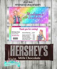 JoJo Siwa Birthday Party Favors Personalized Candy Wrappers Labels