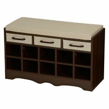 Household Essentials Entryway Storage Bench with Shoe Cubby