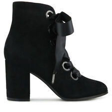 Wittner Ladies Shoes Black Suede Boots