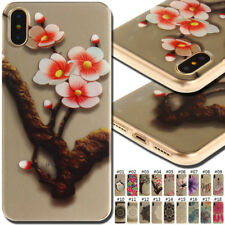 For iPhone SE 5S 6S 7 8 Plus X Silicone Soft Back Protective Cover TPU Case Skin