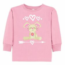 Inktastic Easter Bunny Girls Outfit Toddler Long Sleeve T-Shirt Rabbit Arrow Hws