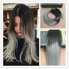 One Piece Ombre 3/4Full Head Clip In hair Extensions Long Straight Wavy As Human