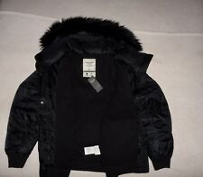 Womens Abercrombie & Fitch Fleece Quilted Water Resistant Jacket L, XL, NWT