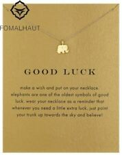 Golden Lucky Charm Elephant Pendant Necklace Clavicle Chains Statement Hot Sale